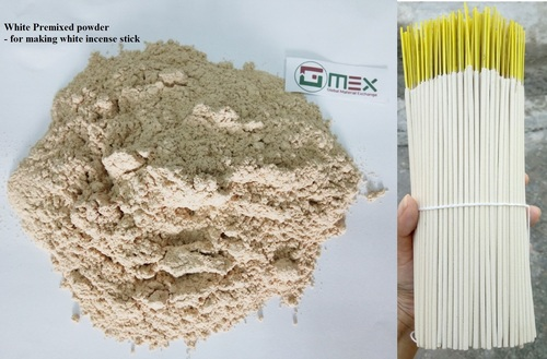 White Premixed Powder For Incense Sticks