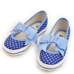 Dotted Design Blue Color Baby Girls Shoes