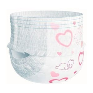 White Disposable Baby Diaper