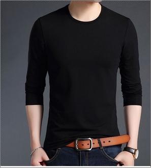 Basic T-Shirt Mens Clothing Full Sleeve