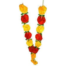 Artificial Flower Mala Used For Wedding And Pooja