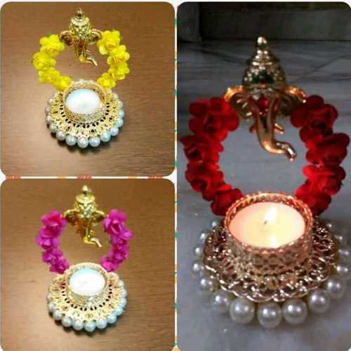 Handmade Decorative Ganesha LED Diya