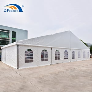 20M Clear Span Party Tent With Lining And Curtain For Wedding Banquet