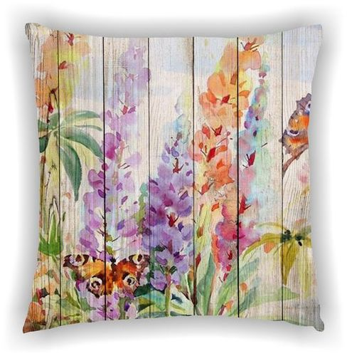 Printed Floral Multi Leaves Design Cushion Cover