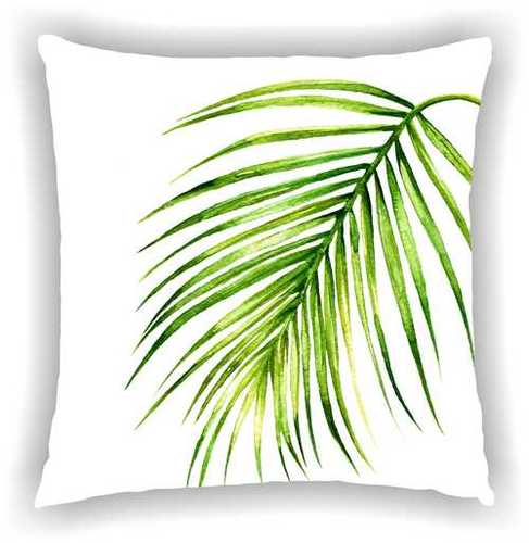 Digital Printed Floral Leaf Design Cushion Cover