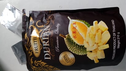 Yellow 100% Pure Dried Durian Fruit