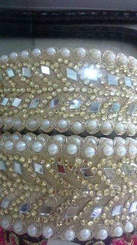 Fancy Designer Saree Border With Pearls