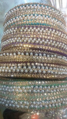 Fancy Saree Border Laces With Pearl