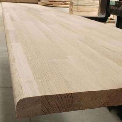 Solid Oak Wood Edge Glued Panel For Stair Handrails