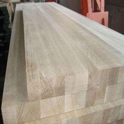 White Oak Wood Edge Glued Panel As Stair Newels