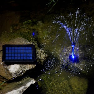 Outdoor Decoration Portable Solar Water Pump Fountain Kit with LED Lights