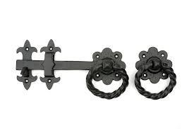 Cast Iron Floral Ring Latch