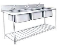 Kitchen Three Sink Unit