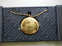 Fancy Round Gold Pendent