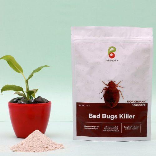 White 100% Organic Bed Bug Killer
