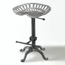 Cast Iron And Metal Mabry Adjustable Tractor Seat Stool