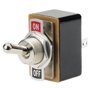 Brass Silver Plated Toggle Switch