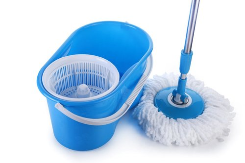 Blue Spin Mop With Bucket