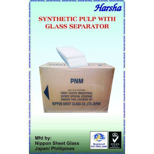 Synthetic Pulp With Glass Separator