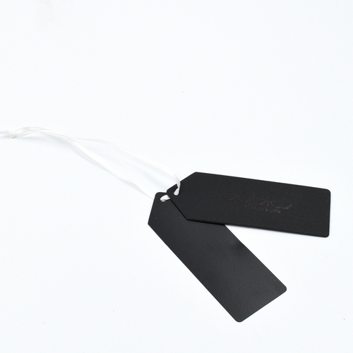 Custom Made Pure Black Cardboard Paper Hang Tag