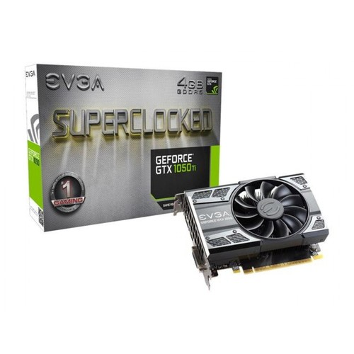 EVGA GeForce GTX 1050 Ti SC Gaming Graphic Card, 4GB GDDR5, DX12 OSD Support (PXOC) Graphics Card 04G-P4-6253-KR