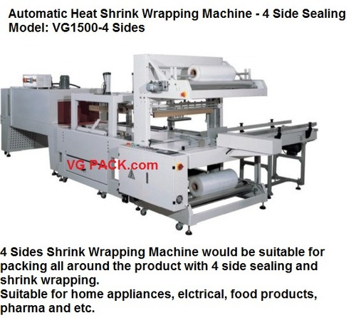 4 Side Automatic Heat Shrink Wrapping Machine