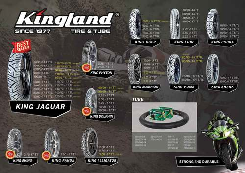 Motorcycle Tyres And Inner Tube (Kingland)