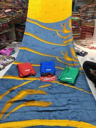 Designer Batik Satin Sarees