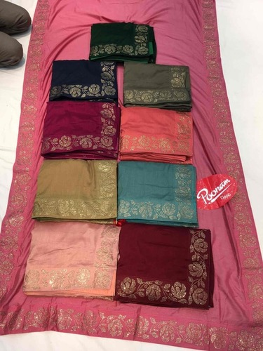 Swarovski Work Silk Sarees at Best Price in Mumbai