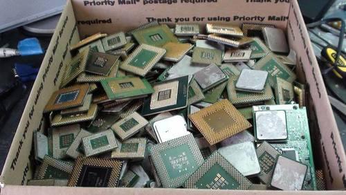 Intel Pentium Pro Ceramic Cpu Processor Scrap With Gold Plates