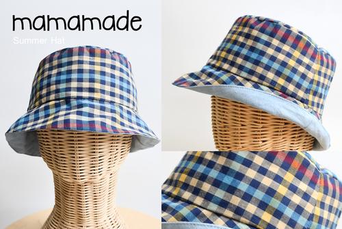 Check Pattern Side Kids Hat