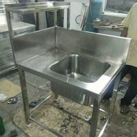 Stainless Steel Commercial Kitchen Single Sink
