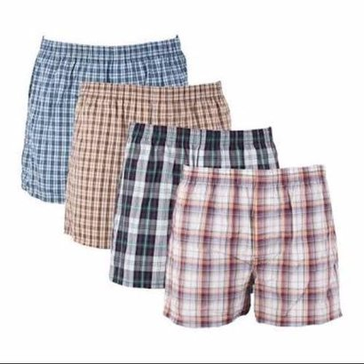 Check Printed Mens Boxer Shorts