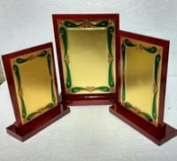 Golden Plated Wooden Momento