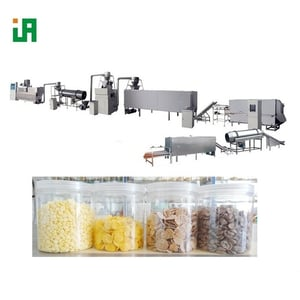 Small Scale Corn Flakes Production Extruder Machinery