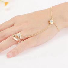 Beautiful Ring Bracelet For Ladies