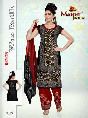 Mayur Rayon Wax Batik Dress Materials