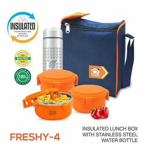 Freshy 4 Pieces Insulated Food Conatiner Set