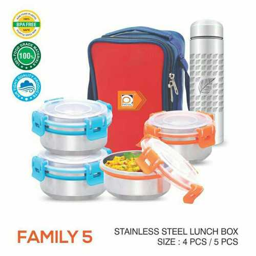 Stainless Steel Lunch Box (5 Pieces Set)