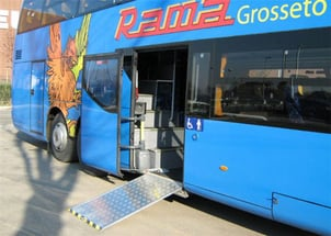 MBS200 Electric Wheelchair Ramp For Bus