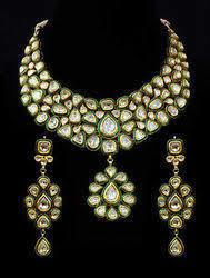 Fashionable Kundan Meena Necklace Set