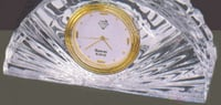 Half Moon Crystal Clock