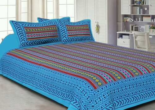Kantha Work Cotton Bedsheets With Pillow Covers