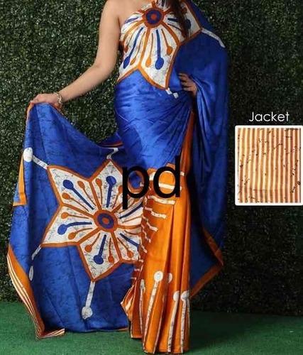 Satin Batik Print Sarees