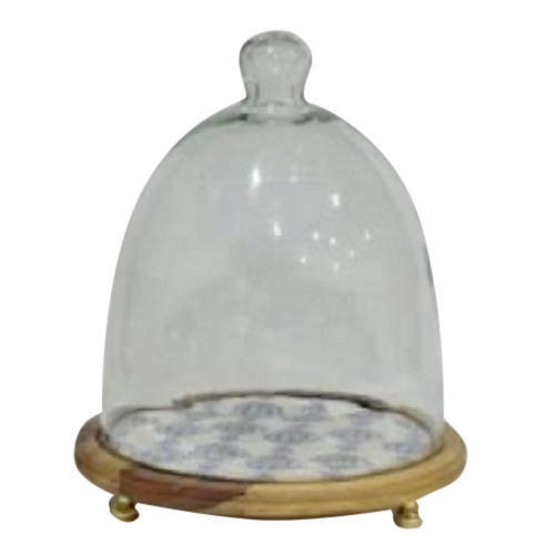 Wooden Cake Stand With Glass Dome In Delhi Delhi Bling International