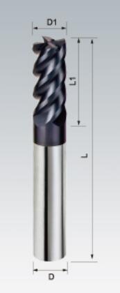 Carbide End Mills 4 Flutes Hardness: 45