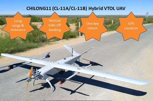 CHILONG 11 (CL-11) Hybrid VTOL UAV Dronefor Mapping