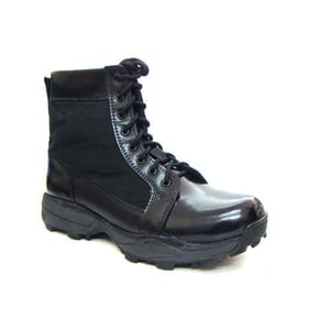 Black Color Leather Tactical Boots