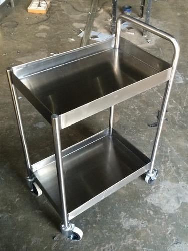 2 Tier Disposable Plate Trolley