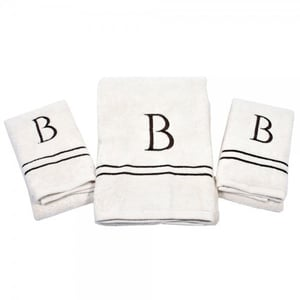 Printed Hand Embroidered Towel Set